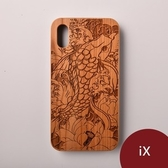 Woodu 木製手機殼 莫內花池 iPhone X適用