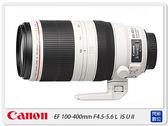 回函送禮券7600元~ Canon EF 100-400mm F4.5-5.6 L IS USM II 二代 大白(100-400,公司貨)