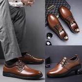 男鞋冬季加絨皮鞋男韓版真皮商務休閒鞋子男士內增高皮鞋爸爸鞋潮