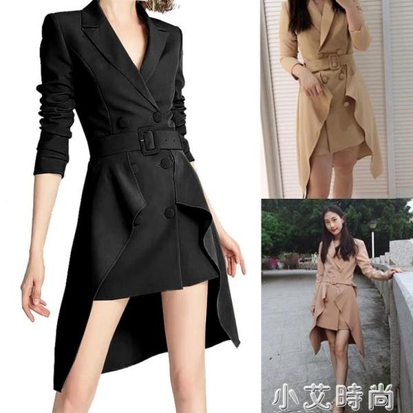 歐洲站2020春秋新款設計感小眾時尚洋氣西裝歐貨小西服外套女風衣 小艾新品