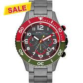 Marc Jacobs Rock 搖滾魅力計時腕錶-鐵灰 MBM5056