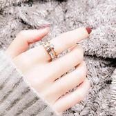 食指鈦金戒指女個性玫瑰金裝飾指環