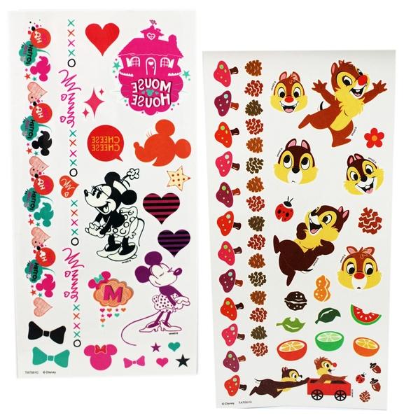 【卡漫城】 迪士尼 紋身貼紙 二選一 ㊣版 轉印 Chip & Dale 花栗鼠 松鼠 奇奇蒂蒂 Minnie 米妮