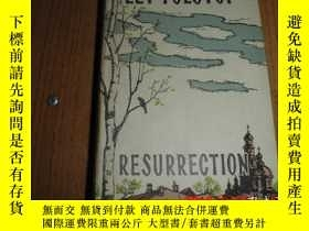 二手書博民逛書店resurrection(復活)原版英文書籍罕見插圖本 精裝刷藍