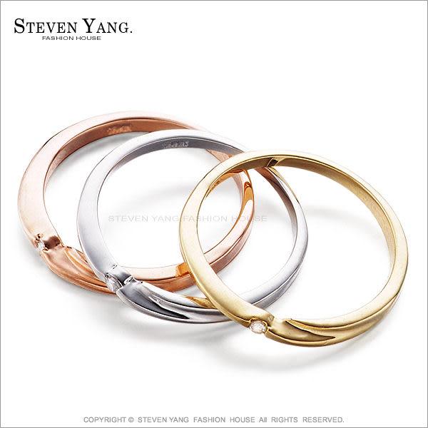 戒指尾戒 正白K飾「三色三環」可拆開單獨配帶 晶鑽鋯石