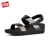 【FitFlop】 BACK-STRAP SANDALS 多彩金屬光後帶涼鞋-女(黑色)