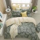 鴻宇 雙人特大薄被套床包組 100%精梳純棉 莫凡彼 台灣製C20103
