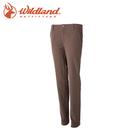 【Wildland 荒野 女款 彈性合身保暖長褲《黃卡其》】52307/彈性/防潑水/吸濕快乾