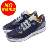 【US9-NG出清】Nike 慢跑鞋 Jordan 88 Racer 左後跟字脫落 藍 黃 合體鞋款 運動鞋 男鞋【PUMP306】
