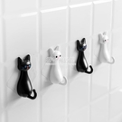 掛鉤 強力黏膠掛鉤卡通貓咪可愛牆壁家用門後黏鉤牆上創意承重無痕鉤子 NMS初色家居館