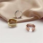 戒指女韓版氣質簡約百搭高級感印花冷淡風指環食指戒【聚寶屋】
