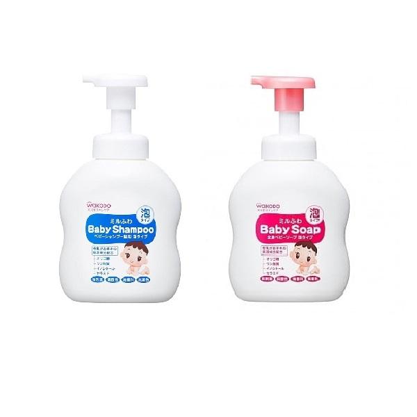 日本【和光堂WAKODO】嬰兒泡沫洗髮精/沐浴乳 450ml