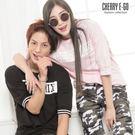 Cherry e購【M5379】情侶/潮男,休閒BESTMIX螺紋縮口短T_3色