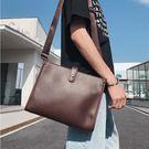 【5折超值價】經典流行英倫風格百搭休閒商務手提包側背包