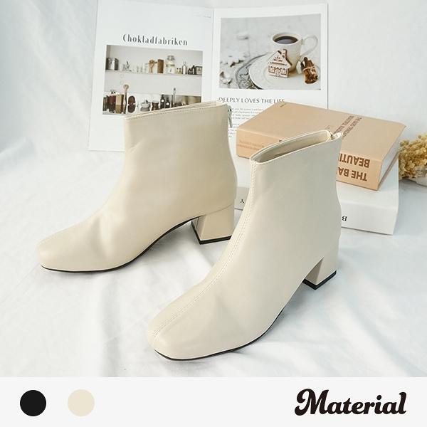 短靴 時尚簡約後拉短靴 MA女鞋 T3569