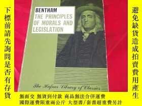 二手書博民逛書店Bentham:罕見The principles of morals and legislationY1855