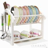 塑料放碗架碗碟瀝水架碗柜廚房置物架抽屜式家用碗筷收納瀝晾用品『CR水晶鞋坊』igo