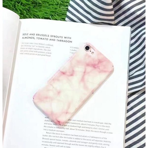 iPhoneX手機殼 絕美粉色透亮大理石 光面硬殼 蘋果iPhone8X/iPhone7/i6