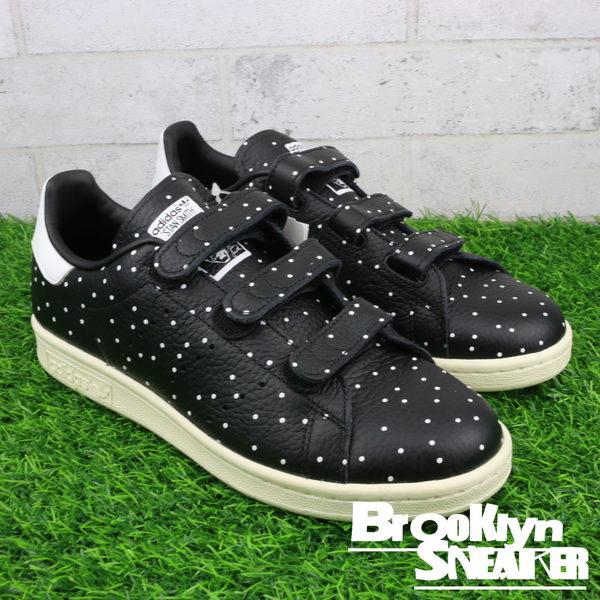 adidas STAN SMITH CF W 黑色波點 dot 休閒鞋 女 (布魯克林) BB5146