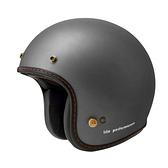 ZEUS 瑞獅安全帽,復古帽,ZS-385B,素/消光灰