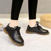 厚底皮鞋 小皮鞋女原宿加絨英倫學院風復古學生鞋軟妹加棉保暖平底女鞋 伊蘿鞋包專賣店