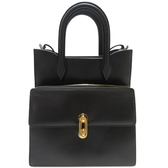 BALENCIAGA 巴黎世家 黑色牛皮手提肩背包 Maillon Tote Bag【BRAND OFF】