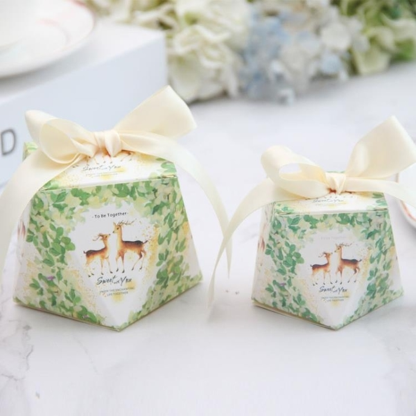 喜糖盒鑽石形結婚禮喜禮物盒個性