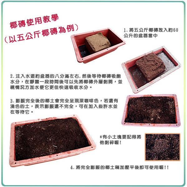 【綠藝家】根呼吸椰磚5公斤±10% (純椰殼纖維壓縮.椰纖土)