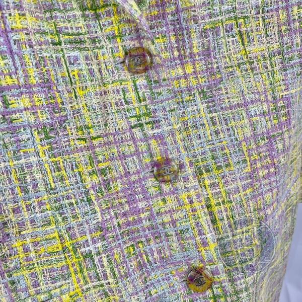 BRAND楓月 CHANEL 香奈兒 粉綠色 春夏款 斜紋軟呢 毛呢 西裝外套 外套 P11168 #40