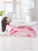 加厚兒童洗頭躺椅可折疊嬰兒神器寶寶家用大號小孩躺著洗發床凳子QM『櫻花小屋』