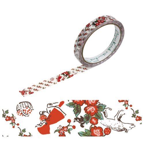 ★funbox生活用品★《Shinzi Katoh 加藤真治》小紅帽OPP裝飾膠帶15mm(玫瑰小紅帽) ZI01525