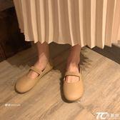 娃娃鞋/早春韓系圓頭可愛芭蕾pu學院百搭平底套腳娃娃單鞋女