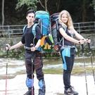 登山杖越野跑步碳纖維折疊輕徒步手杖裝備單支【創世紀生活館】