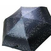 ~iumbrella ~眼底星空手開折傘抗UV 變色傘、輕量、晴雨兩用傘紫深藍粉紅靛