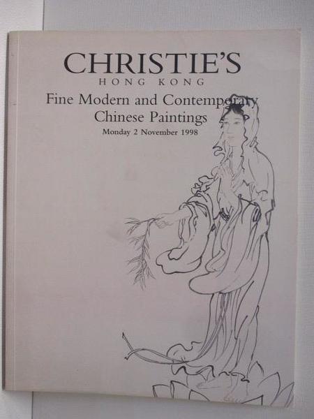 【書寶二手書T1/收藏_JR5】Christie s_Fine Modern and...Chinese Paintings_1998/11/2