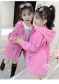 女童外套兒童女風衣中長款童裝公主韓版洋氣衣服 錢夫人小鋪
