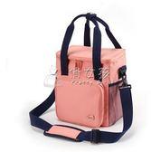 野餐袋 大容量保溫包加厚牛津布飯盒袋帶飯包便當包戶外防水手提 俏女孩