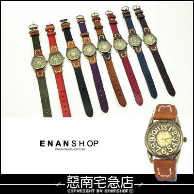 惡南宅急店【0334F】造型手錶‧小窄版設計『數字古典』情侶對錶可‧單支價