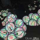 免費刻字反光籃球DXXL熊斯夜光發光熒光禮物彩虹7號6號5號軍哥球 YYJ深藏blue