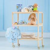 移動可嬰兒換洗臺收納尿布臺床邊便捷實木多功能護理置物臺