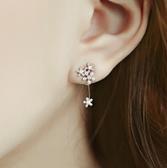 925純銀耳環 鑲鑽(耳針式)-浪漫性感生日情人節禮物女飾品73ag241【巴黎精品】