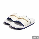 NIKE 男女 拖鞋 OFFCOURT SLIDE 海綿 緩震 白藍金勾 套腳 舒適-DH8081100