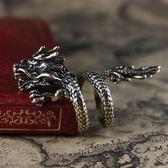 龍戒指男女個性誇張男士尾戒復古霸氣開口單身食指環日韓潮人飾品 晴光小語