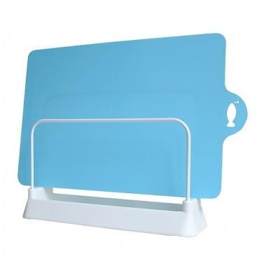 日本LEC砧板架+可彎曲薄砧板(藍色)1片
