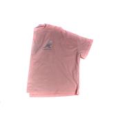 KANGOL 短袖T恤 落肩短版 粉紅色 漸層袋鼠/草寫LOGO 6122100941 noF36