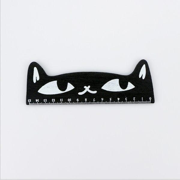 貓咪造型木尺 韓版 創意文具 可愛直尺15CM