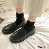 娃娃鞋 英倫風 日系 黑色 平底  百搭 單鞋