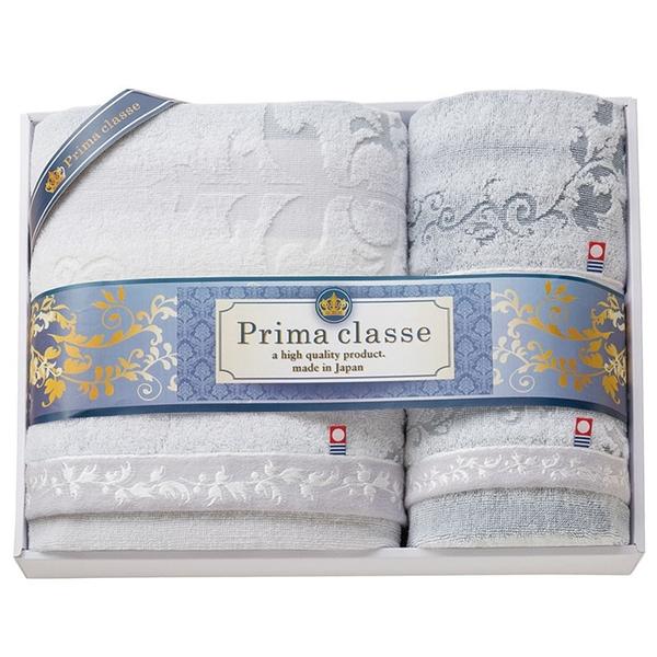 【日本製】【PRIMA CLASSE】 日本製 今治毛巾 浴巾 擦面巾 擦手巾 贈答禮品 三件組 SD-4049 - 日本製