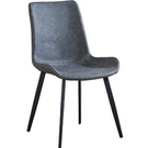 餐椅 SB-929-1 馬克蒂深灰鐵藝皮餐椅【大眾家居舘】