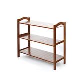 竹藝竹製開放式三層鞋櫃